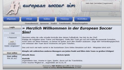 European Soccer Sim