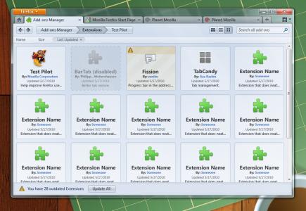 Firefox 4.0 Mockup