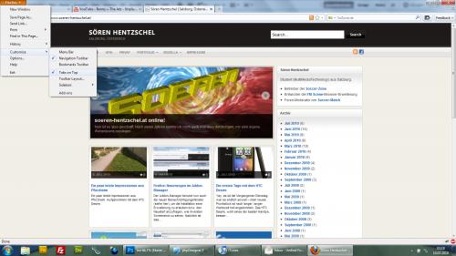 Benutzeroberfläche Firefox 4.0