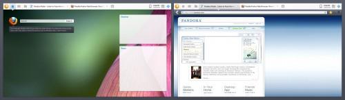 Mockup Vollbild-Firefox