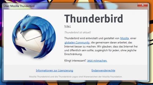 Thunderbird Infodialog