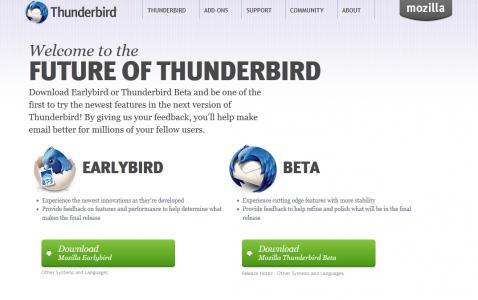 Thunderbird Homepage Channels