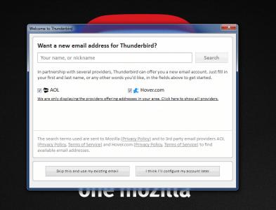 Thunderbird Account Provisioning