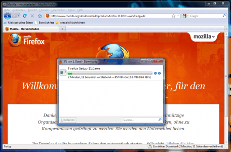 Firefox Altes Download-Fenster