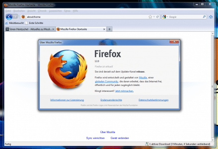 Firefox 12 im Firefox 3.6-Design