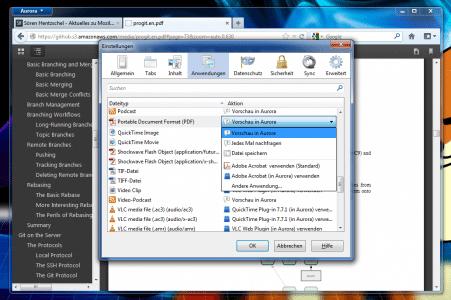 Firefox 15 PDF Einstellungen
