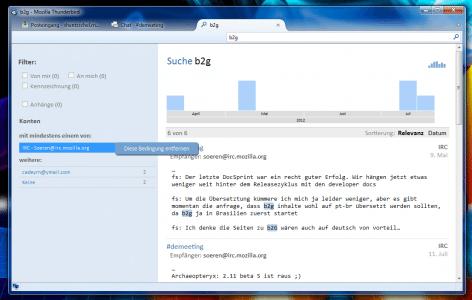 Thunderbird Instant Messaging Suche