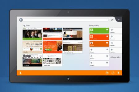 Firefox Metro Startseite