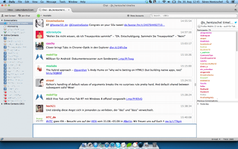 Thunderbird Instant Messaging Twitter