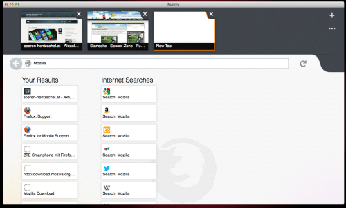 Firefox Metro Preview Neuer Tab