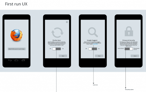 Firefox Mobile First Run UI