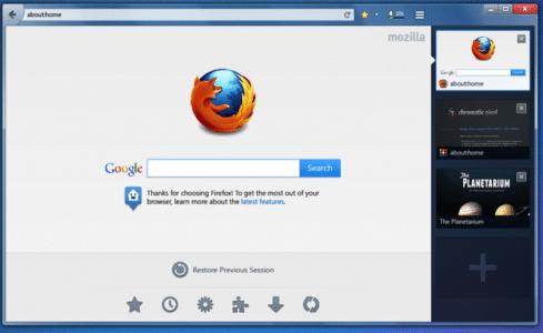 Firefox Tabs an der Seite