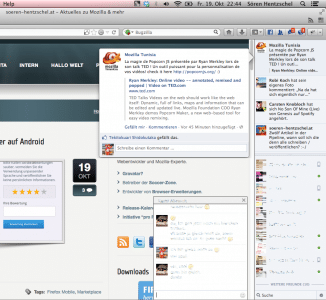 SocialAPI Facebook-Integration in Firefox