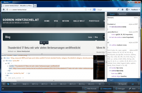 Firefox Markup Preview