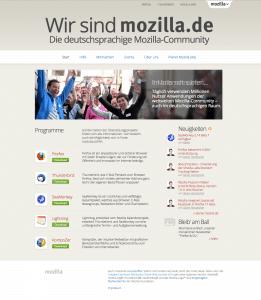 Neue mozilla.de-Seite