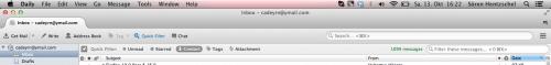 Thunderbird Mac OS Schnellfilterleiste