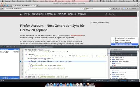 Firefox 19 Debugger