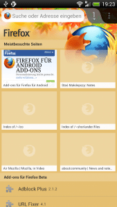 Firefox Mobile Themes
