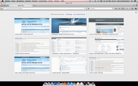 Firefox 21 about:newtab