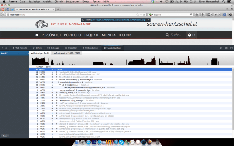 Firefox 21 JavaScript Profiler