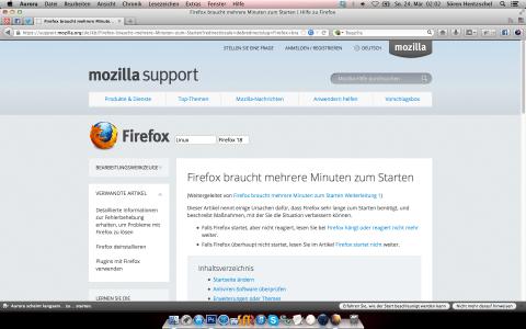 Firefox 21 Langsamer Start