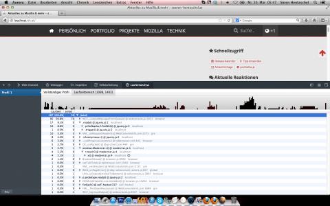 Firefox 22 JavaScript-Profiler