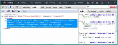 Firebug in Firefox integriert