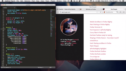 Firefox SublimeText 2 Interaktion