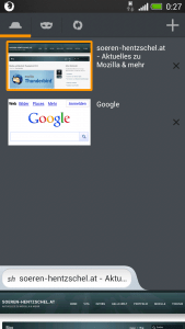 Firefox Mobile Neuer Tab