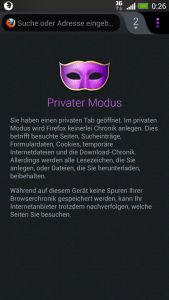 Firefox Mobile Privater Modus