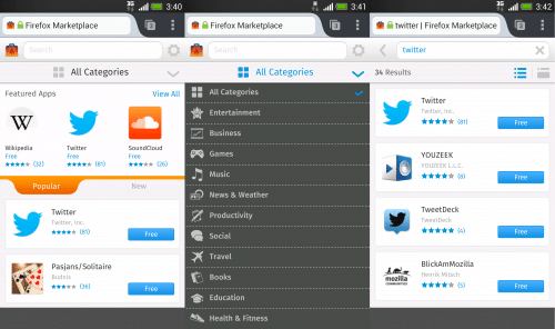 Firefox Marketplace 2013 Android