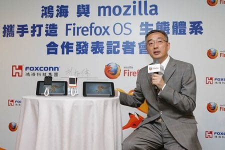 Li Gong mit Firefox OS Tablets