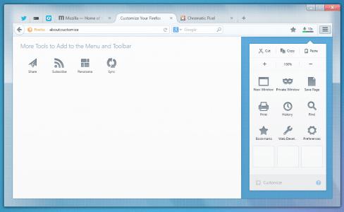 Australis Chrome Vergleich: Anpassen Firefox
