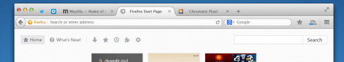 Australis Chrome Vergleich: Tabs Firefox