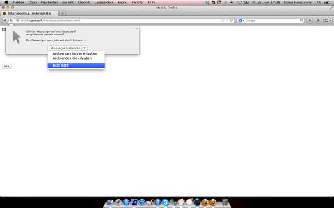 Firefox Pointer Lock API