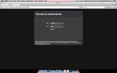 Firefox Remote Entwickler-Werkzeuge