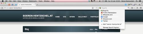 Blogsuche Firefox