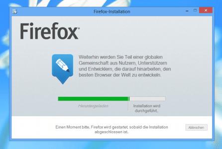 Firefox 22 Netz-Installer