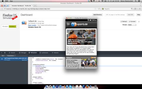 Firefox OS Simulator 4.0