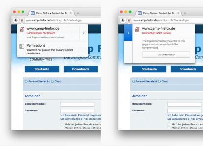 Firefox 44 Loginfeld auf HTTP-Seite