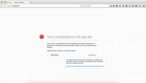 SSL Verschlüsselungsfehler