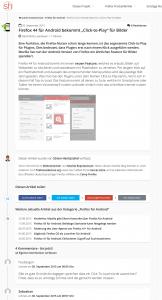 Timeline Design-Konzept Artikel