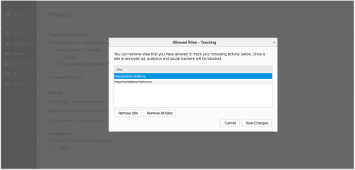 Tracking-Schutz Mockup