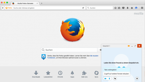 Firefox Hello in Firefox 43