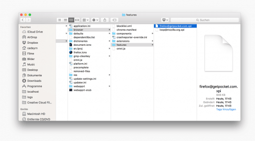 Pocket als Firefox System-Add-on