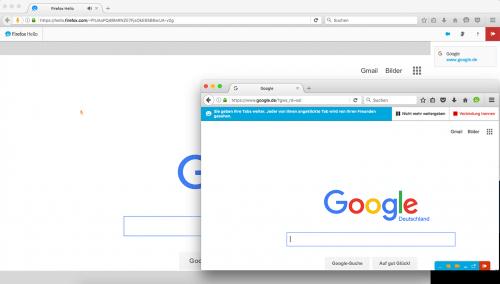 Firefox Hello 1.1 Mauszeiger