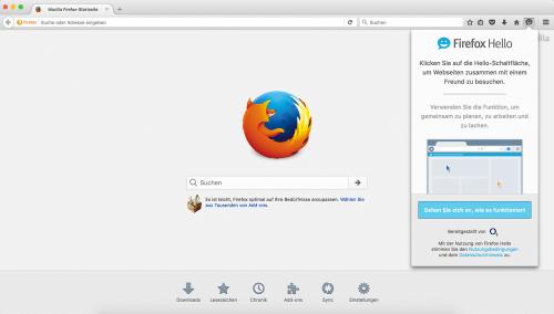 Firefox Hello 1.1 Tour