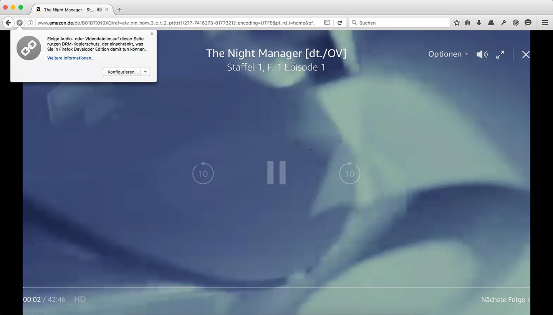 Firefox 47: Amazon-Videos können ohne Silverlight abgespielt werden