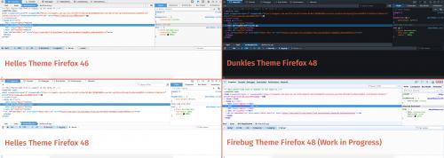 Firefox 48 Entwickler-Werkzeuge Themes