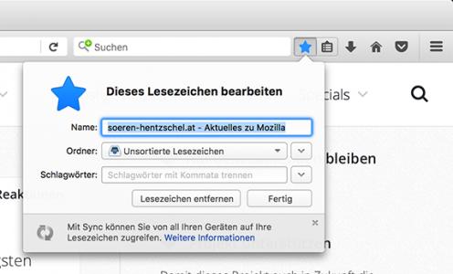 Firefox 47 Lesezeichen